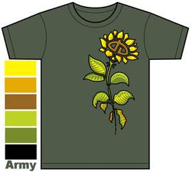 dA Flower Shirt Design by clearkid