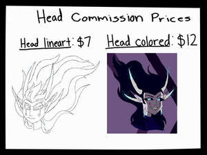 Im open for head/bust commissions!