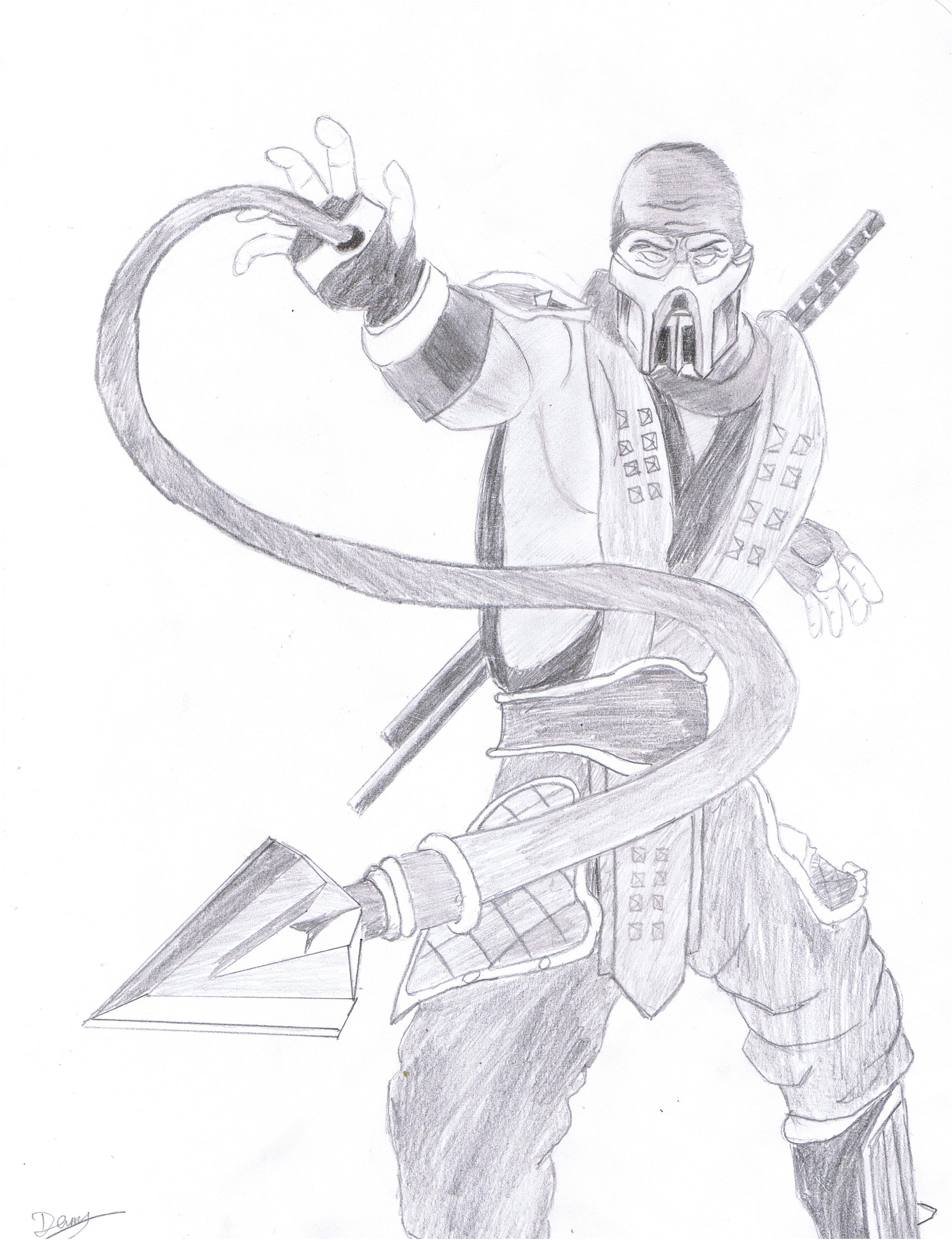 Großartig Mortal Kombat Malvorlagen Skorpion Zeitgenössisch - Entry ...