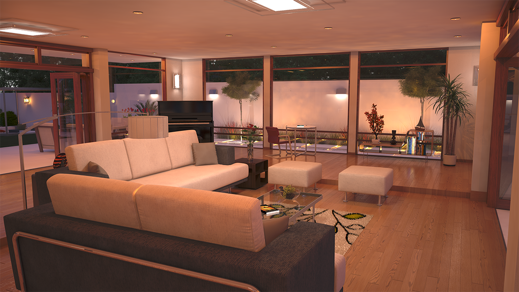 H Residence - Living Room by bm23