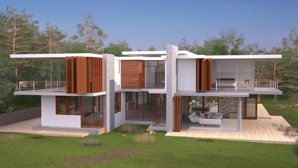 Eco house side by bm23 on deviantart for Side by side homes