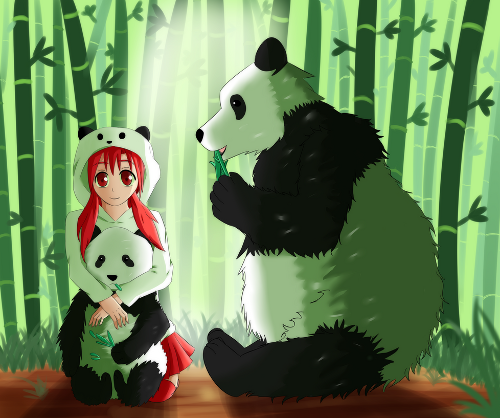 AT  Panda Girl by HardOtakuVivver