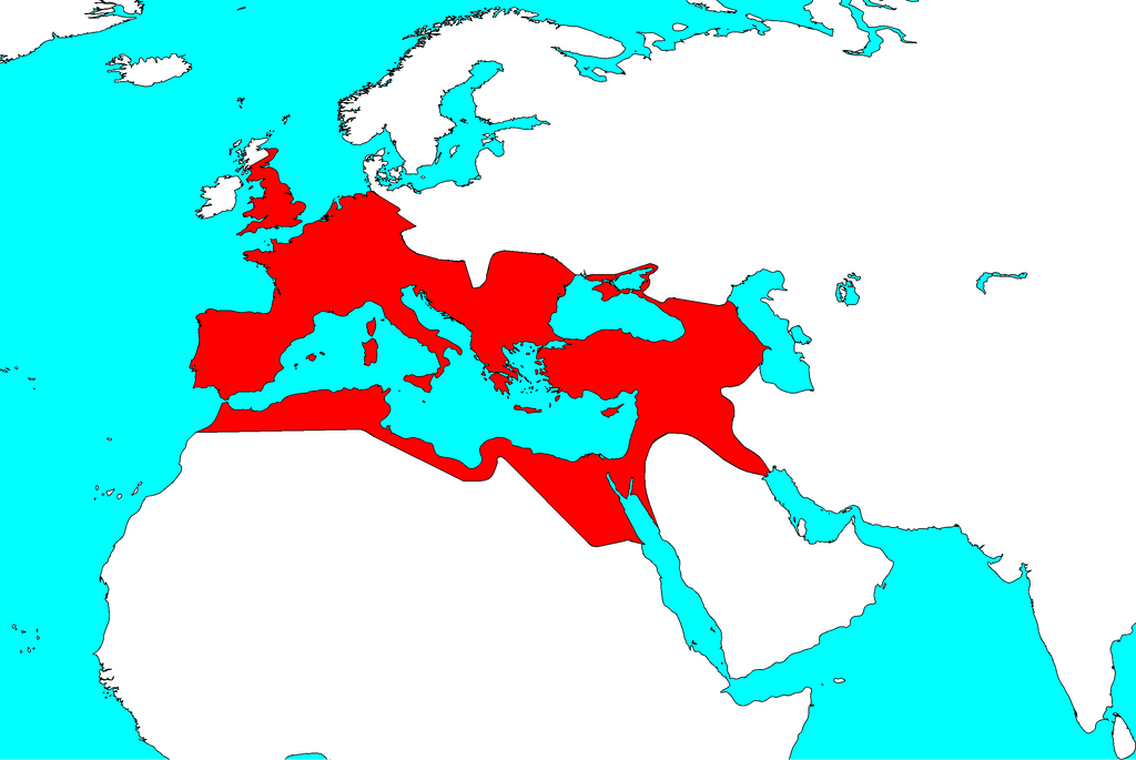 romen empire Constantine the great, 306-337 ce, divided the roman empire in two and made christianity the dominant religion in the region the invading army reached the outskirts of rome, which had been left totally undefended in 410 ce, the visigoths, led by alaric, breached the walls of rome and sacked.