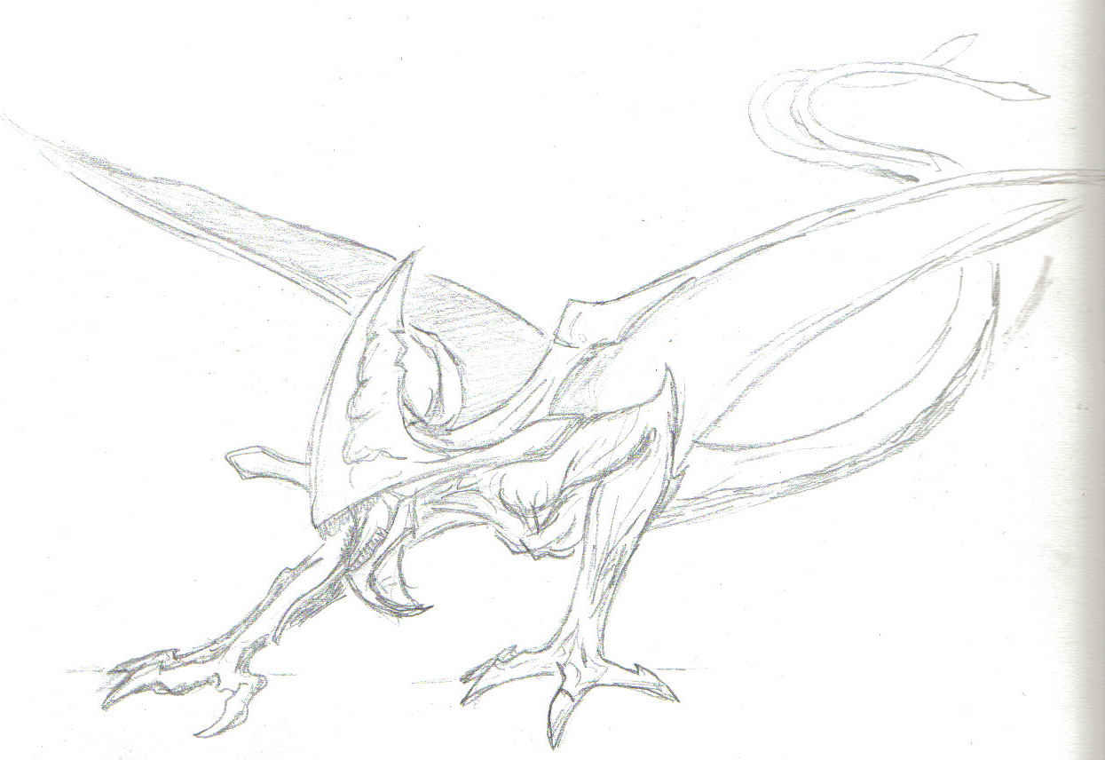 Line Drawing Monster : Pitch black monster by plague rat on deviantart
