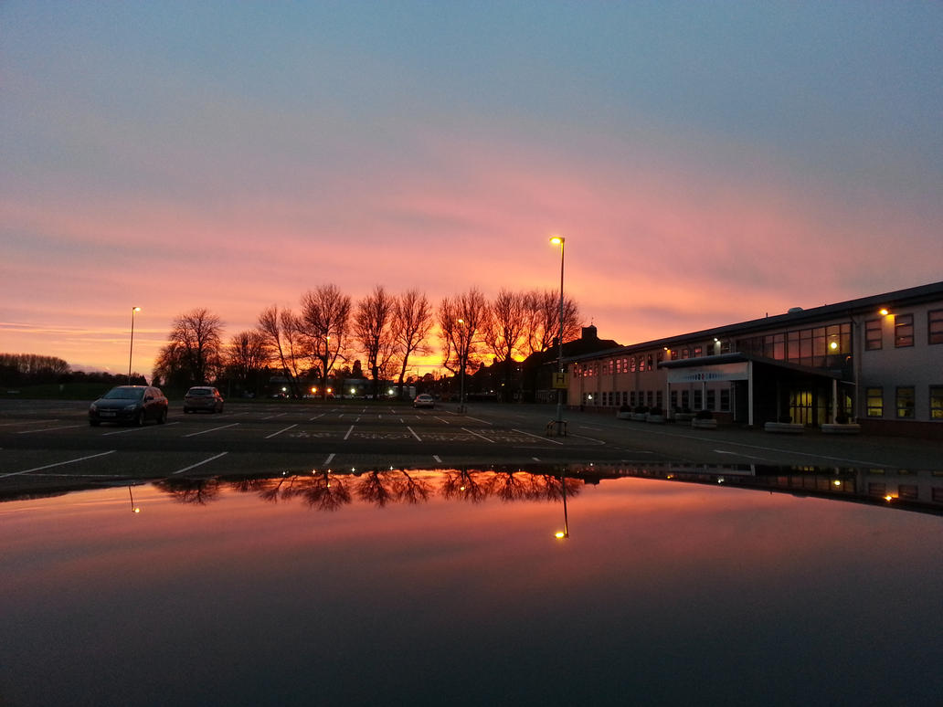 Sunset at the Defence Academy by DaddyHoggy