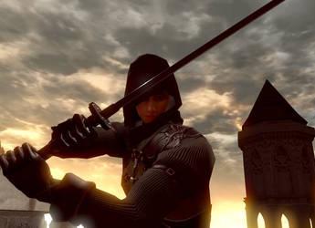 Dark Souls Remaster posing by sircowdog