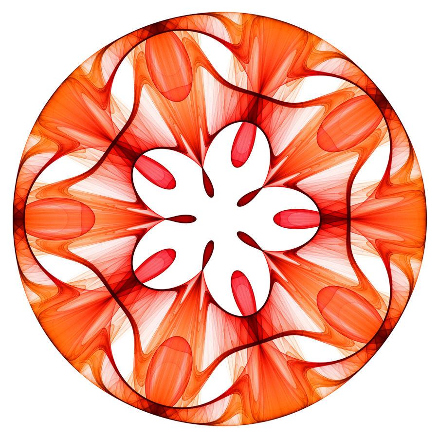Stained glass ornament by rosshilbert digital art fractal art 2010