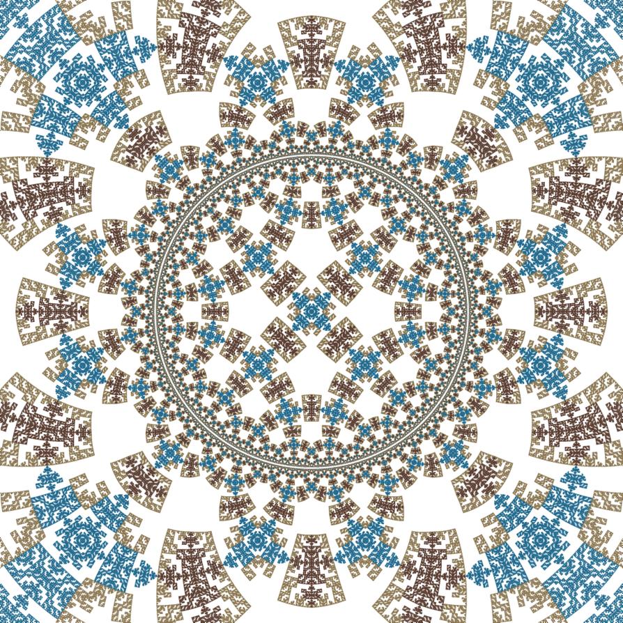 Hyperbolic Rep Tile 08 by rosshilbert