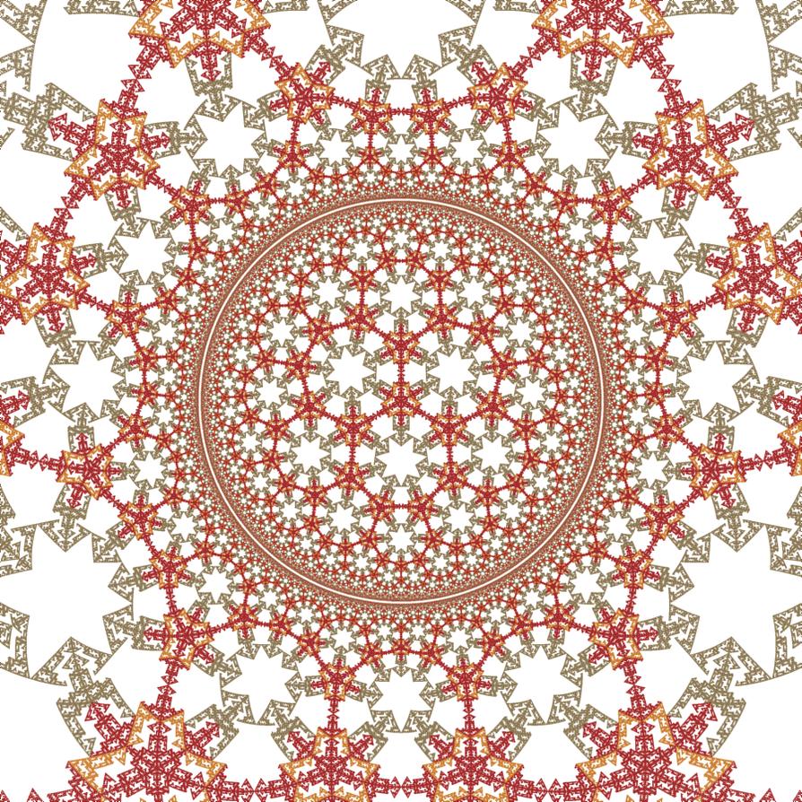 Hyperbolic Rep Tile 05 by rosshilbert