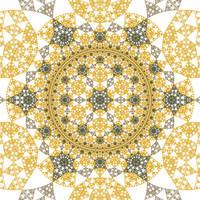 Hyperbolic Rep Tile 19 by rosshilbert