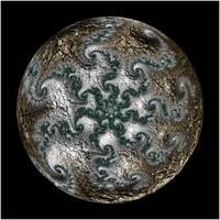 Fractal Moon by rosshilbert