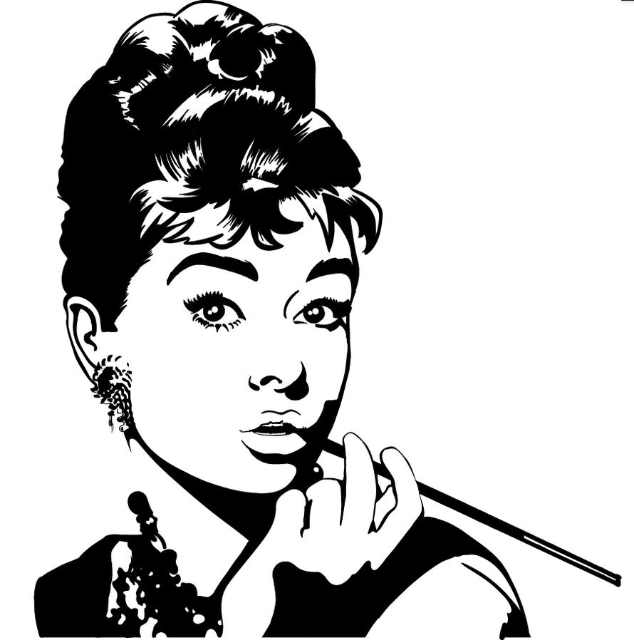 Audrey Hepburn Wall Art By Madhartdesigns ...