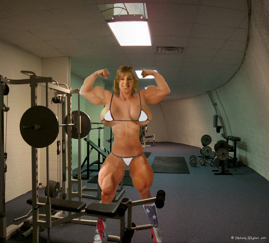 Female Muscle morph by 89Springer