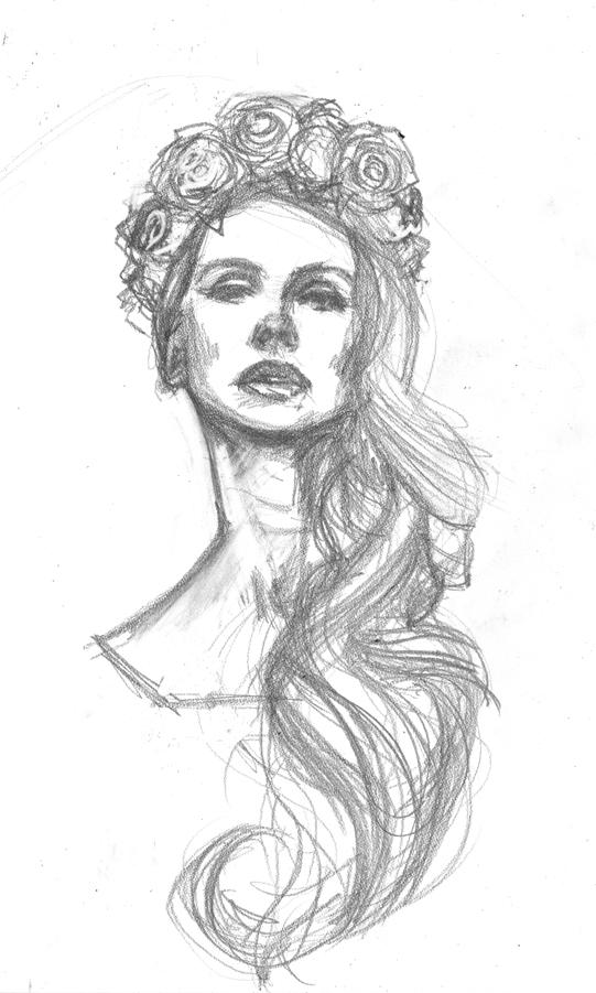 Lana del rey drawing outline sketch coloring page for Lana del rey coloring pages