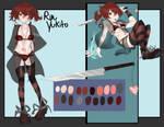 Ryn Yukito Reference Sheet by Fistdantilus