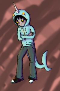 Karkat: Wear a Narwhal hoodie by cat-women2