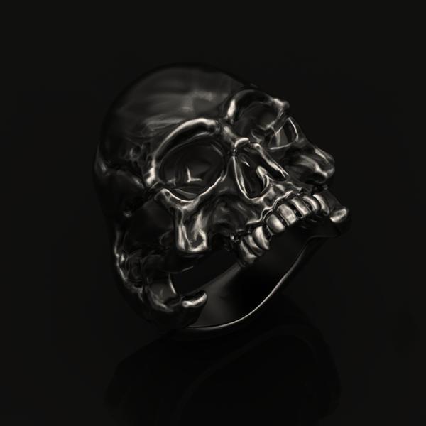 dark ram designs skull ring by darkramdesigns