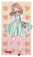 Mint Watermelon! by Choco-Rune
