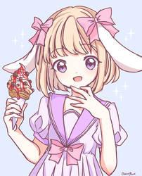 Bunnies Like Ice Cream by Choco-Rune