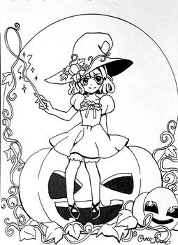 Witchtober Day 1: Pumpkin Witch