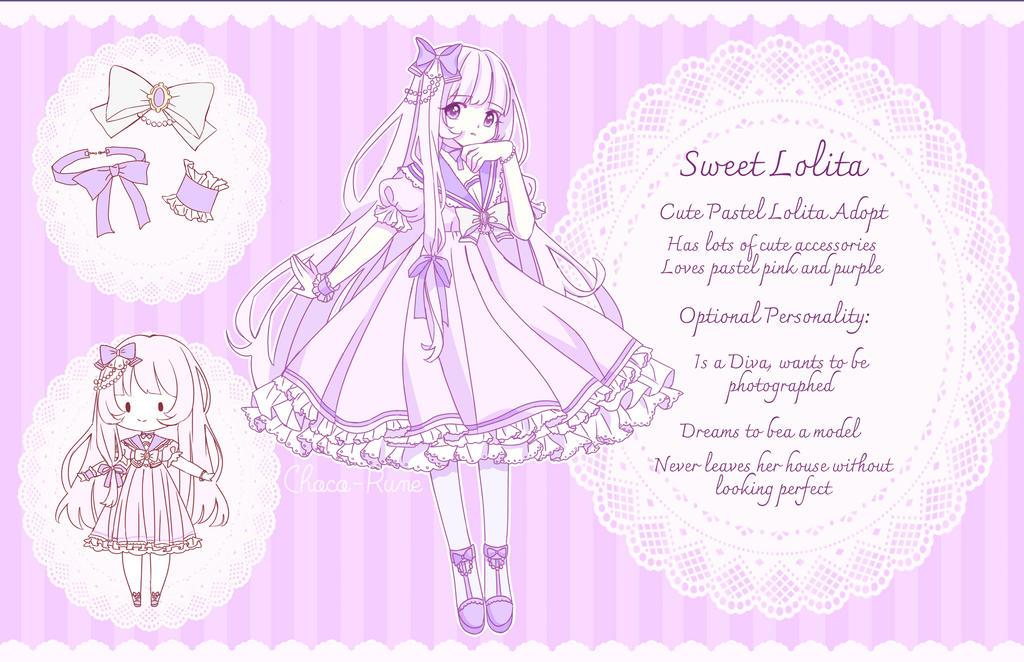 [OPEN ADOPT] Sweet Lolita Design 30 euro