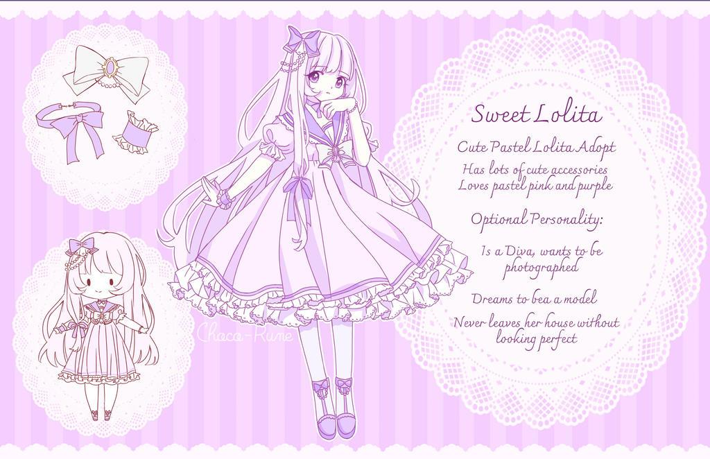 [OPEN ADOPT] Sweet Lolita Design