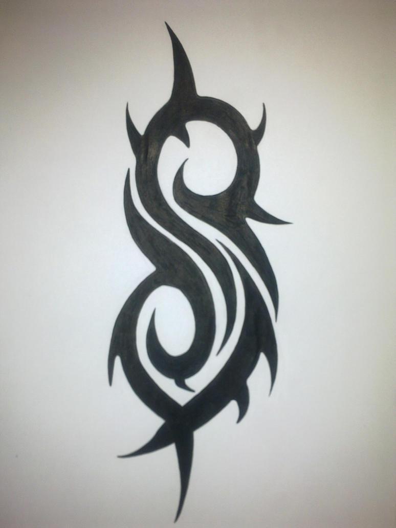 Slipknot logo in black d by animefreakmania on deviantart for Tattoos slipknot logo