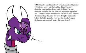 OMG Cynder in Skylanders by sapphire3690