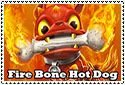 Fire Bone Hot Dog Stamp by sapphire3690