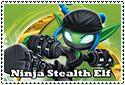 Ninja Stealth Elf Stamp by sapphire3690
