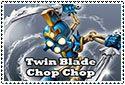 Twin Blade Chop Chop Stamp by sapphire3690