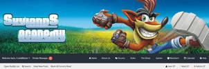 Skylands Academy Crash Bandicoot Forum Layout by sapphire3690