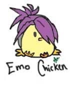 Emo Chicken by ShadowedArcher