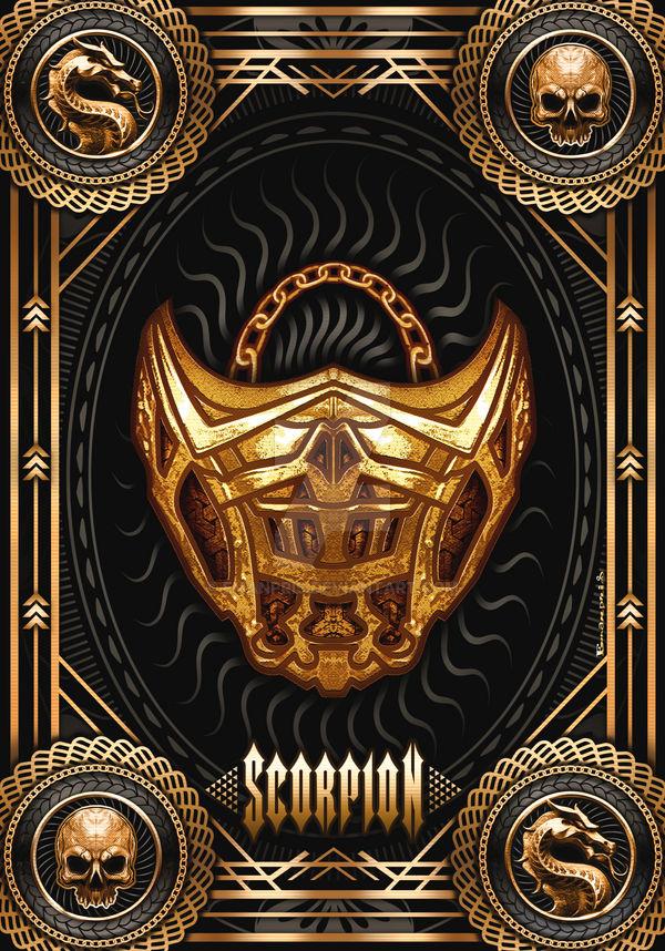 Scorpion's Mask Concept   Mortal Kombat Movie 2021