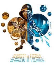 Scorpion and Sub-Zero   Deadliest of Enemies   MK by Emanpris