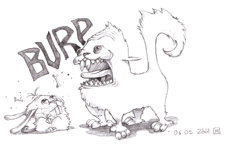 Burping by Halfy
