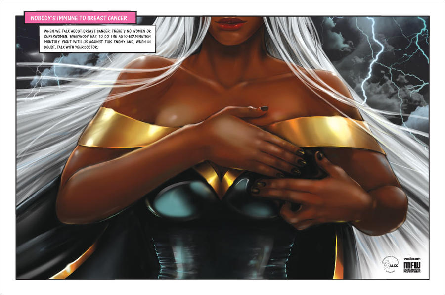 Ororo Munroe supports Breast Cancer Awareness  in Mozambique Breast_cancer_campaign__storm_by_halfy-d4iw333