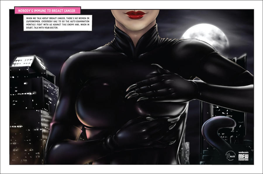 Breast Cancer Campaign CatWoman by Halfy