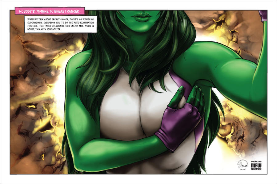 Breast Cancer Campaign SheHulk by Halfy