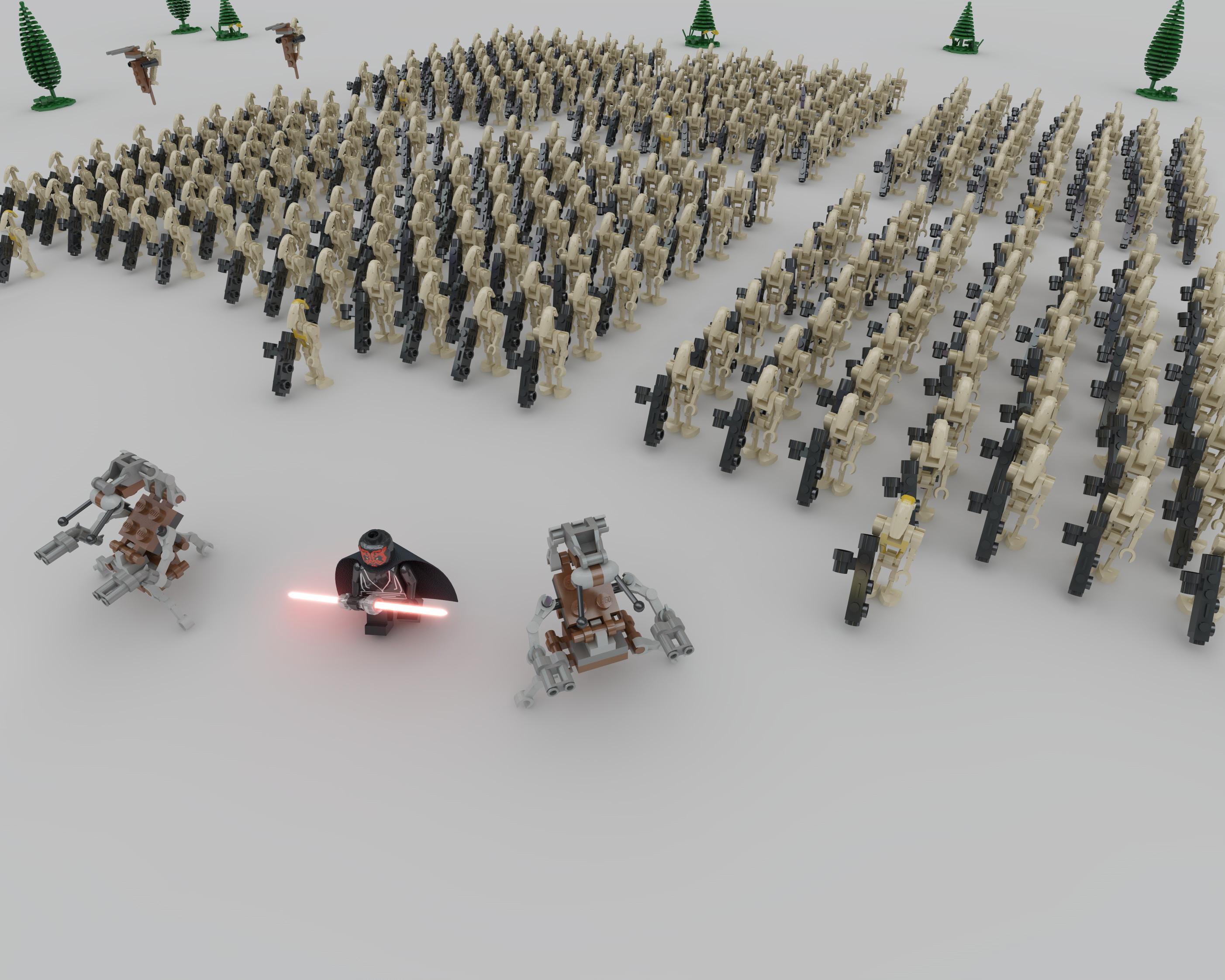 Lego battle droid army by ligh7bulb on deviantart - Lego star wars base droide ...