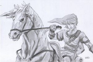 Link and Epona by Chibis-Link-Club
