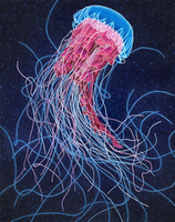 mixed media jellyfish by NegativeSanction