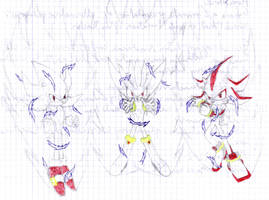 Class doodle-Powered Hedgehogs by YgdrasilChaosControl