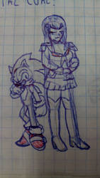 Class doodle- Blue and edgy by YgdrasilChaosControl