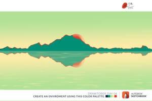 Drawtober Day 04   Limited Palette Landscape by kangghee