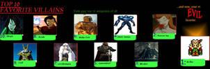 My Top 10 Villains Meme by Pronon1990