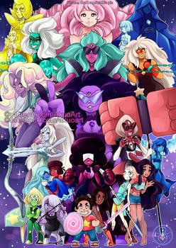 Steven Universe All gems (+ Connie)
