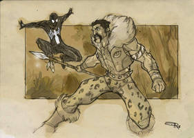 Kraven VS Spiderman by DenisM79