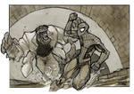 Spiderman VS Lizard