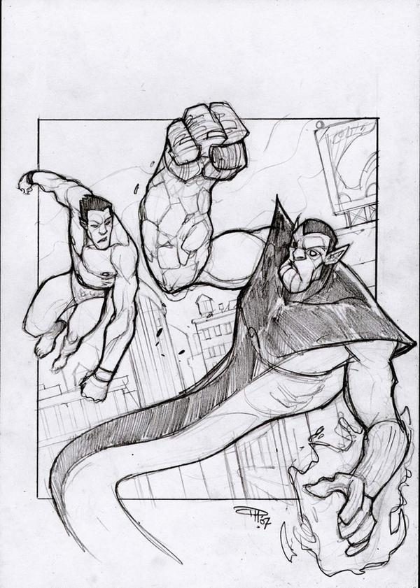 Super Skrull VS Namor by DenisM79
